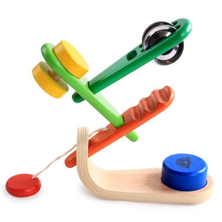 木制 婴幼儿乐器组合套装 摇铃床铃 奥尔夫乐器 早教玩具 0-7岁