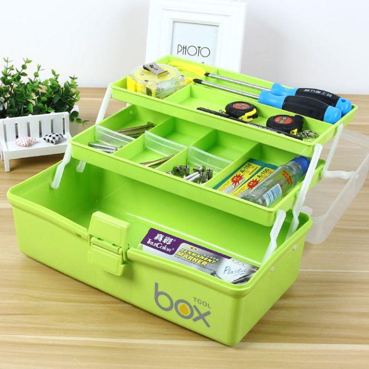 家用收纳急救药箱多功能储物盒手提便携式工具箱塑料美术收纳箱