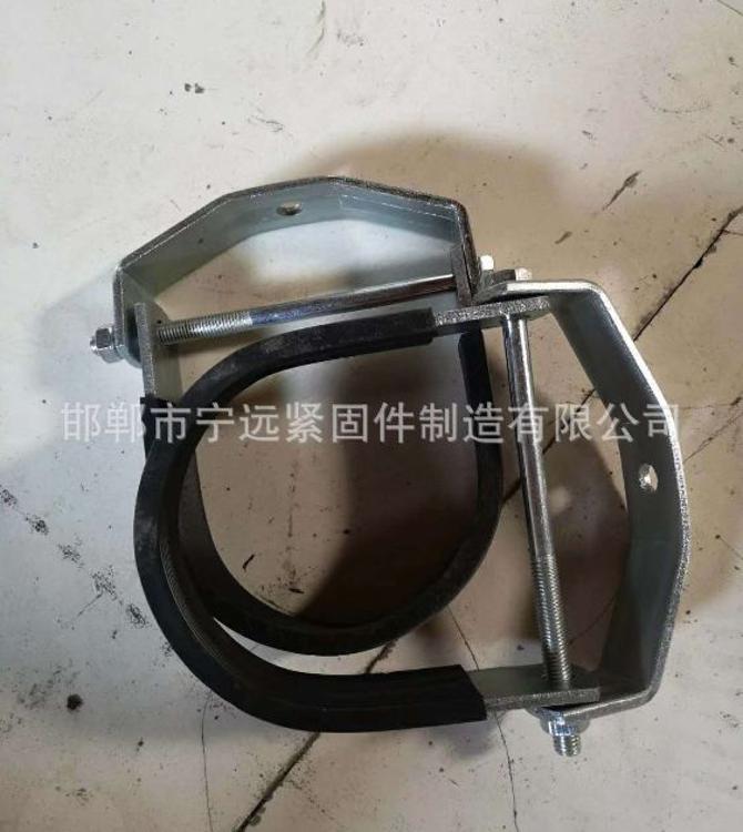 厂家直销 O型管夹管束抱箍 基准型双螺栓扁钢管夹 抗震支吊架管夹