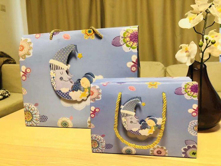 宝宝诞生礼品袋 满月喜糖盒 周岁回礼喜蛋包装 创意生日快乐礼盒