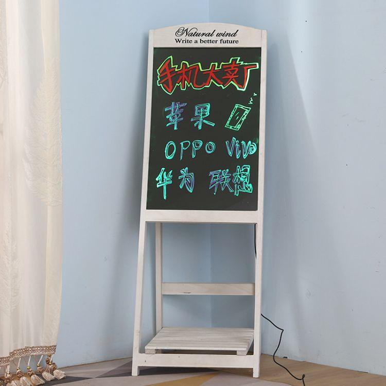 儿童画板支架式木质小黑板酒吧网咖漫画黑板家用儿童学习小黑板