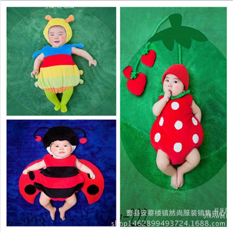 新款儿童摄影服装垫子影楼主题新生婴儿满月百天宝宝拍照摄影道具