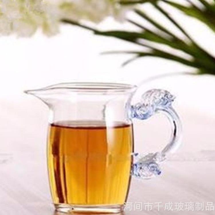 多款耐热玻璃功夫茶具茶海 耐高温公道杯 手工吹制琉璃把公杯