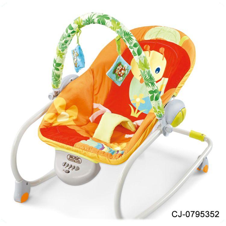 宝宝多功能音乐摇椅 电动震动多功能轻便安抚椅 婴幼儿躺椅玩具