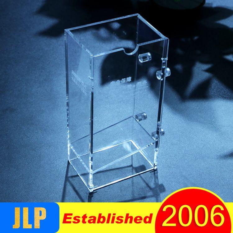 新款有机玻璃工艺品进口亚克力展示架亚克力透明名片架名片盒订做