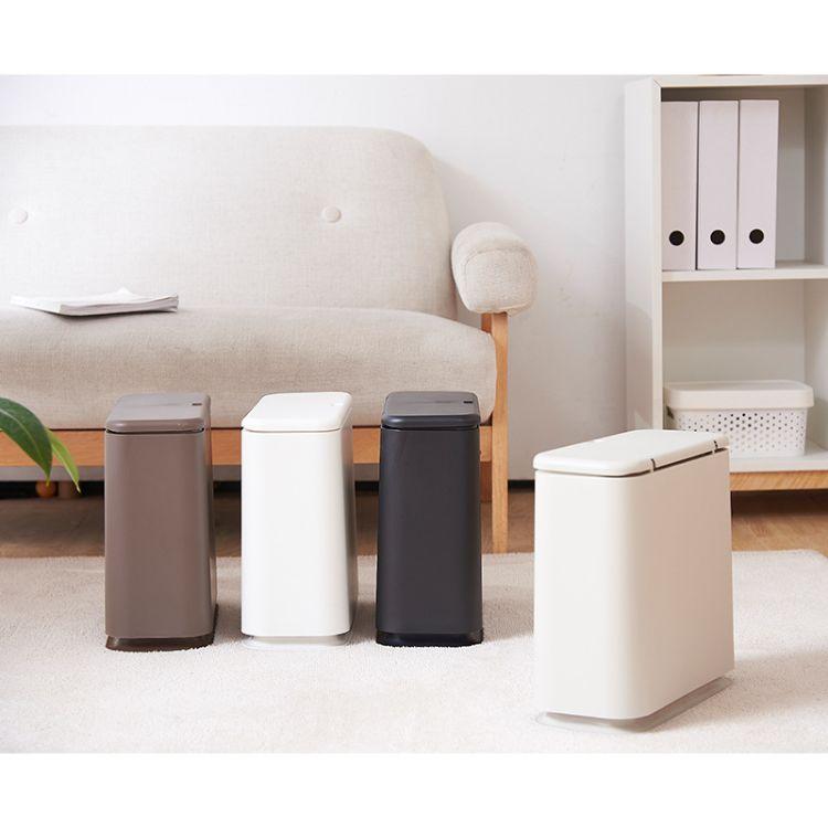 家用卧室厨房夹缝客厅卫生间有盖创意椭圆形按压式垃圾桶厂家直销