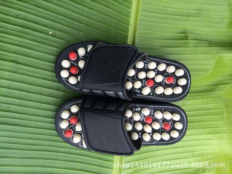 【外贸出口】圆珠带刺 旋转八卦 足底穴位按摩拖鞋可定制 加印LOG