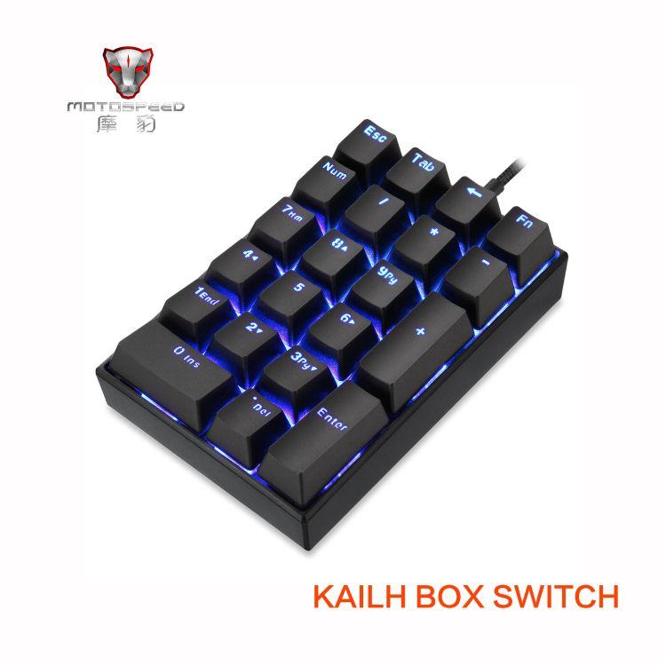 亚马逊爆款摩豹K23数字机械键盘单色蓝光type c线机分离凯华BOX轴