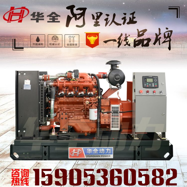 玉柴50kw燃气发电机组 50千瓦养殖家用沼气天然气发动机机组三相