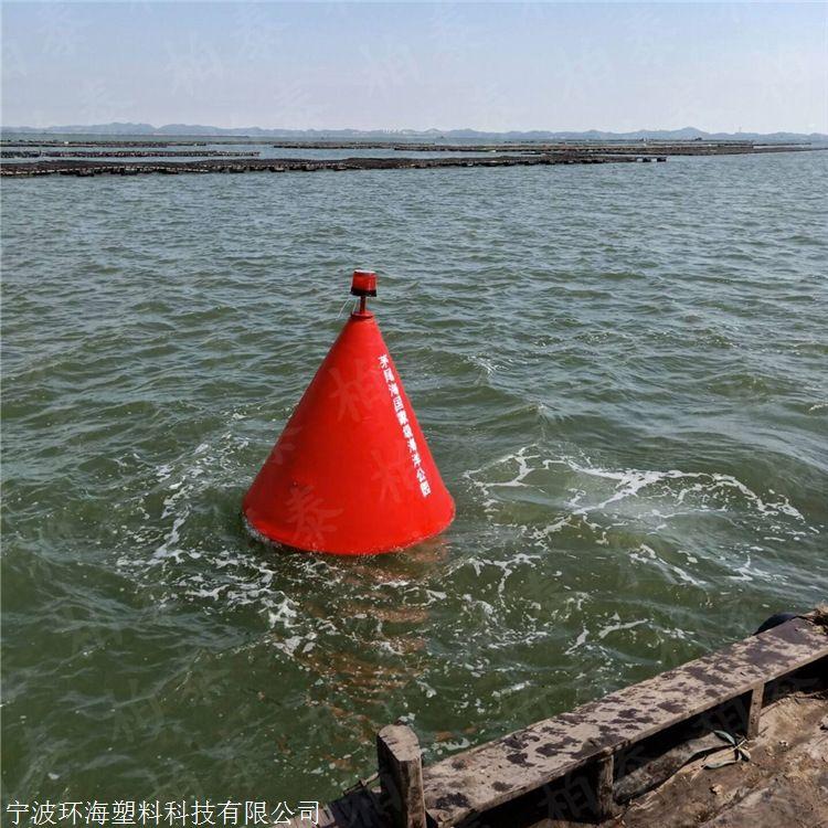 航道警示浮标 带灯杆型浮标 塑料浮球标加工厂