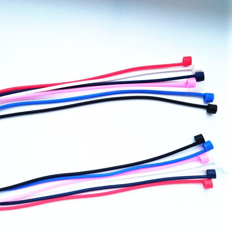 适用于苹果i7 Airpods蓝牙耳机挂绳phone硅胶耳机防丢绳防脱落绳