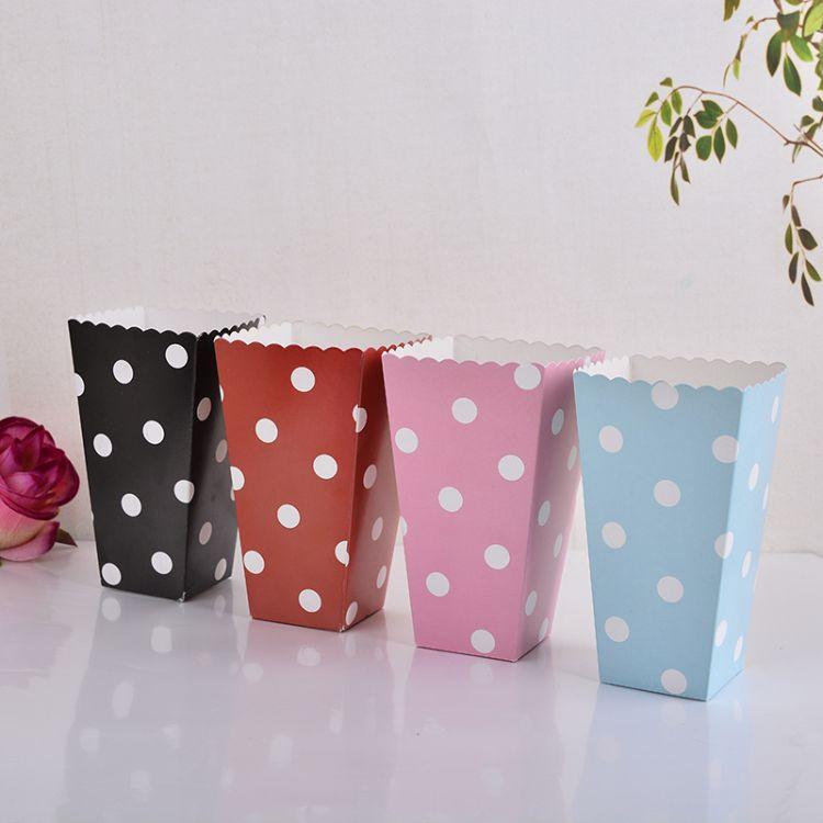 厂家直销 优质白卡纸敞口包装盒子 食品爆米花包装纸盒