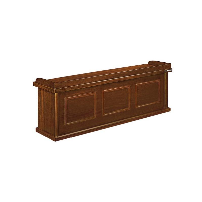 中式油漆贴木皮办公主席台培训台演讲台接待会议台长条桌办公讲台