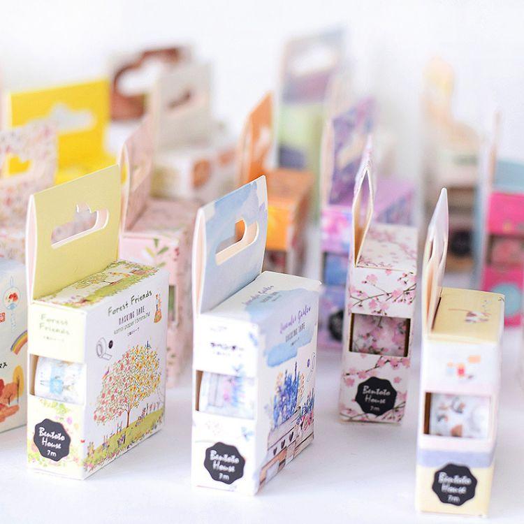 日本和纸胶带原创和风水彩手帐相册装饰 25款