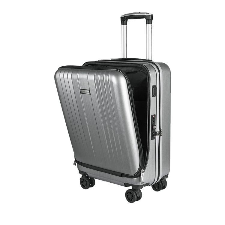 厂家直销 现货 20寸前置电脑袋PC行李箱 USB充电商务登机拉杆箱