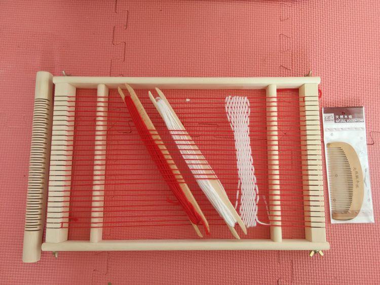 厂家直销可定做 外贸热销木质玩具 大号儿童手工织布机diy编织机