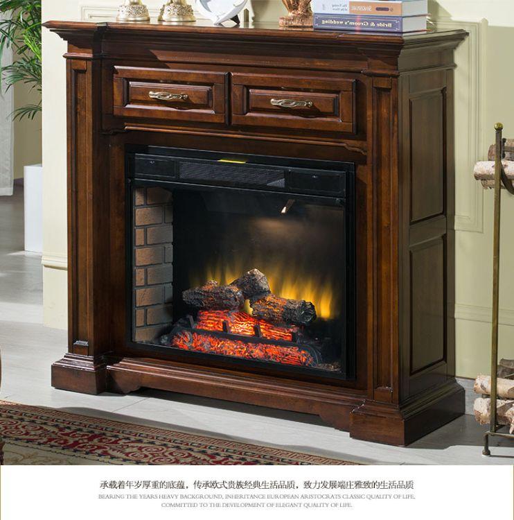 实木定制电壁炉壁炉灯欧式电子壁炉柜墙纸浴室柜厂家直销