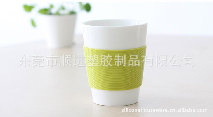 供应SHUNJIN硅胶杯套(环保隔热杯皮) 硅胶杯套 杯套 矽胶套