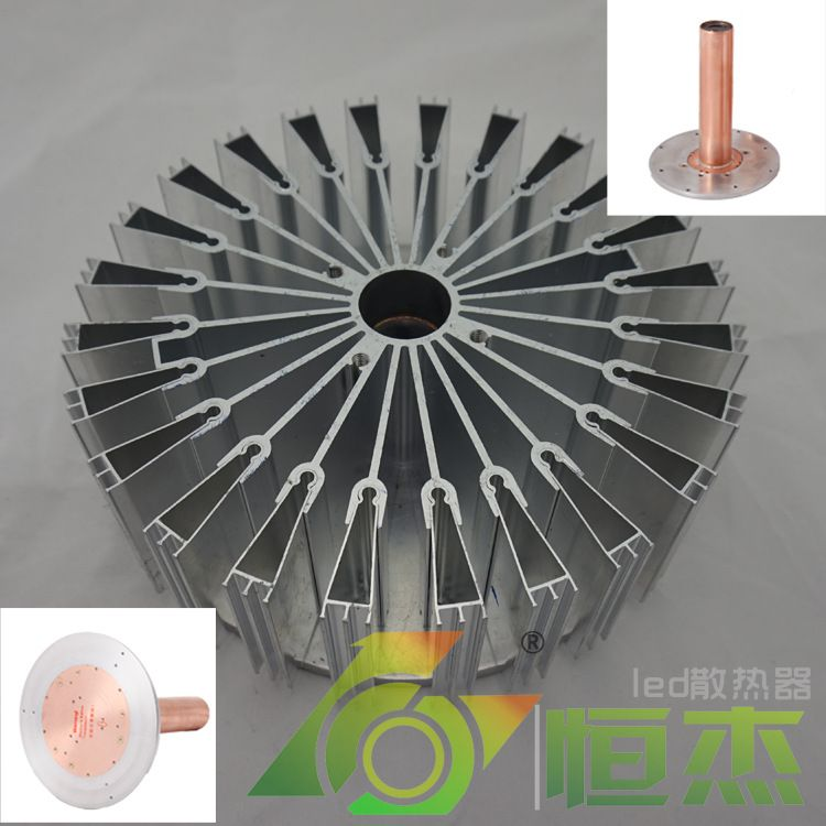 80W RSH LED工矿灯散热器 纳米涂层热辐射 铜相变热柱 D185