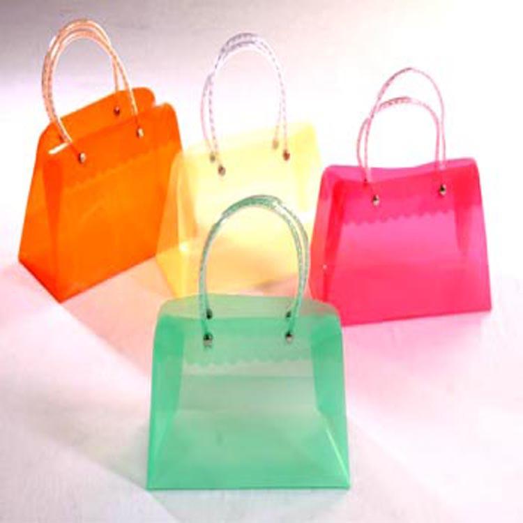 厂家专业pvc手提定制购物袋红酒服装软胶料才是透明包礼品袋定做
