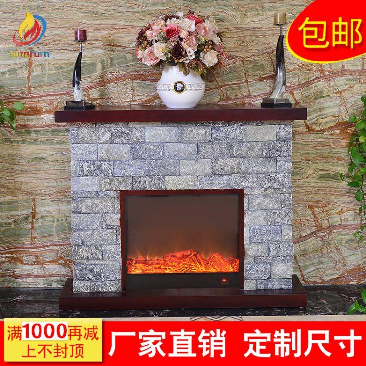 厂家直销 可批发电壁炉 仿真火焰 装饰取暖柜 欧式壁炉饰柜