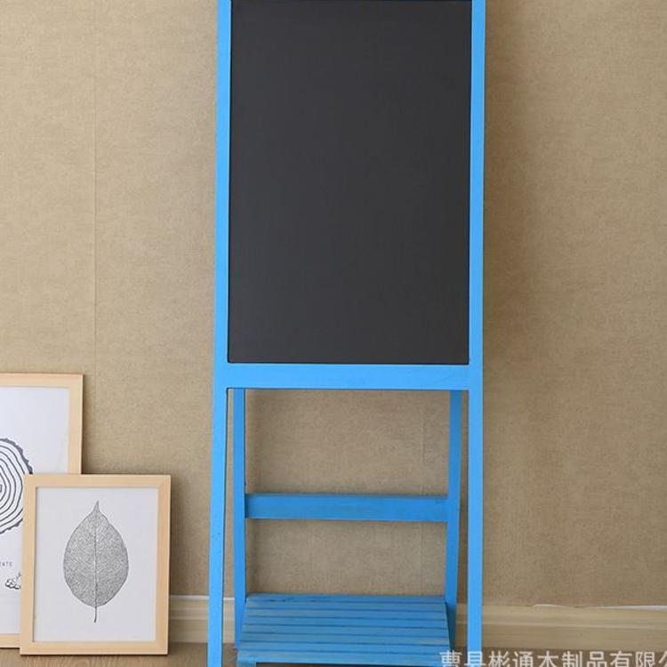 ZAKKA实木做旧支架式花架小黑板咖啡馆花店餐厅文艺范装饰广告板