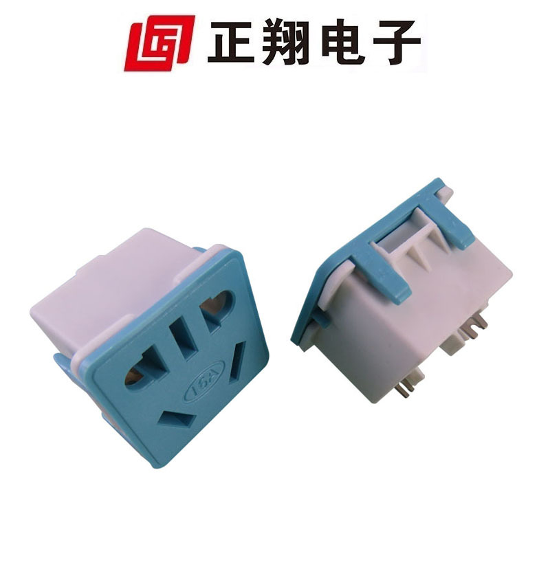国标插座 五孔插座 排插 pdu模块 34*34 五孔 新国际