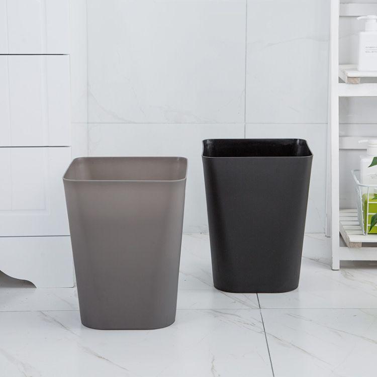 个性创意北欧风家用客厅卧室垃圾桶大号方形简约办公室无盖纸篓