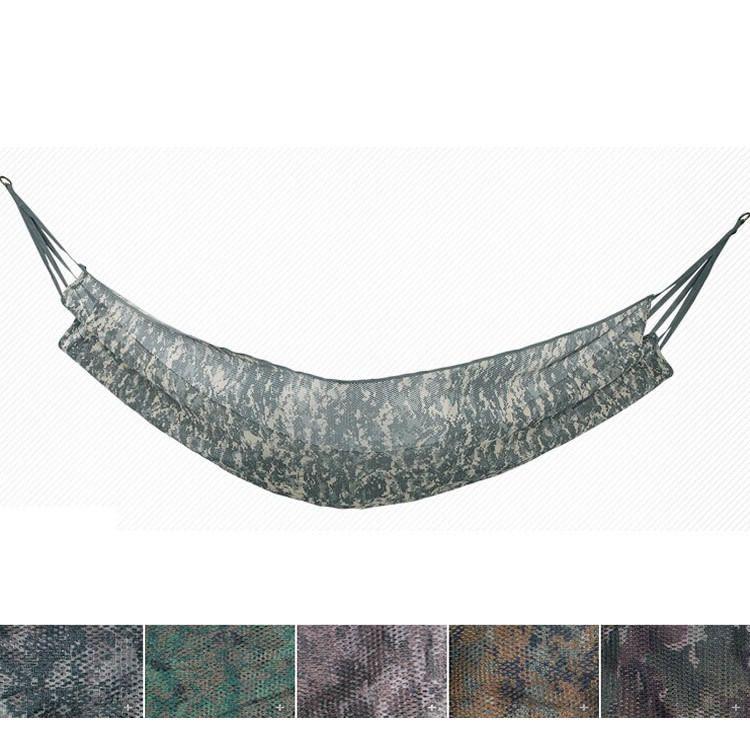 军鹰网状吊床 单人野营吊床 户外透气迷彩网布多用途秋千