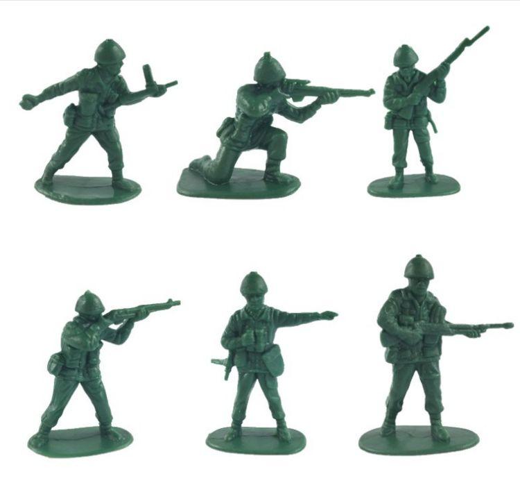 特价仿真二战5cm兵人模型益智军事1:36士兵儿童玩具中士兵