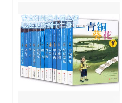 曹文轩纯美小说系列全12册草房子/青铜葵花/红瓦黑瓦/野风车图书