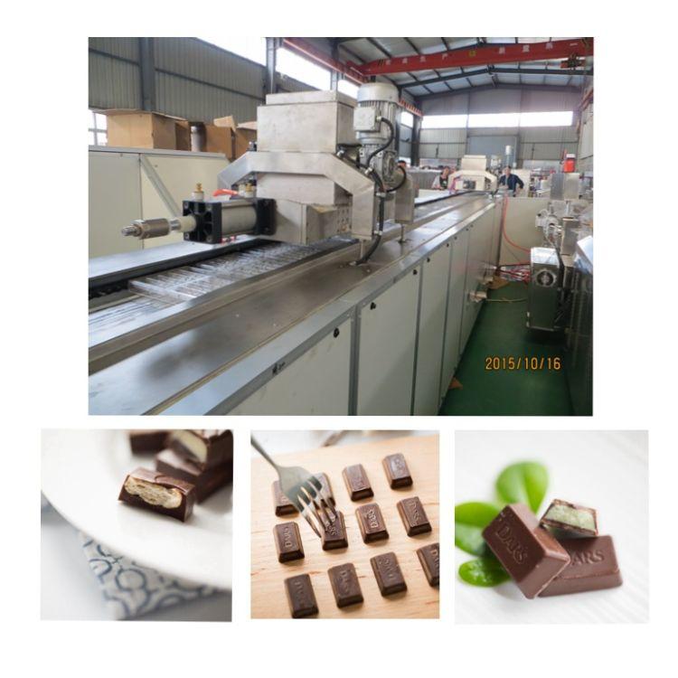 厂家直销全自动巧克力浇注生产线   多功能全自动巧克力生产设备