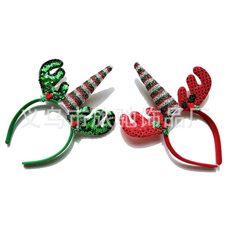 跨境儿童头饰圣诞节发箍儿童圣诞节独角兽头箍万圣节独角兽生日