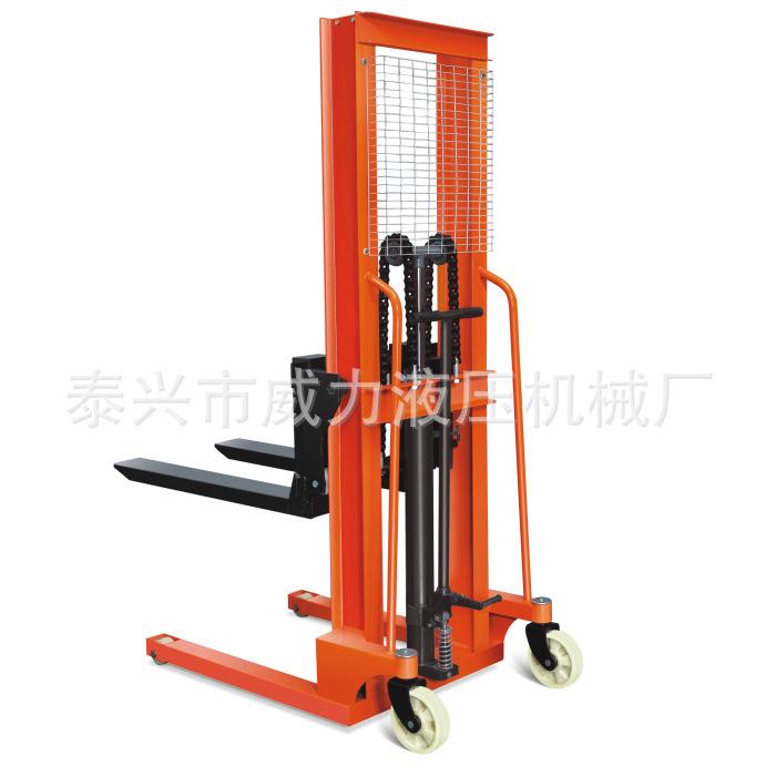 手动液压升高车 液压装卸叉车 脚踏式堆高车 装卸叉车堆高机铲车