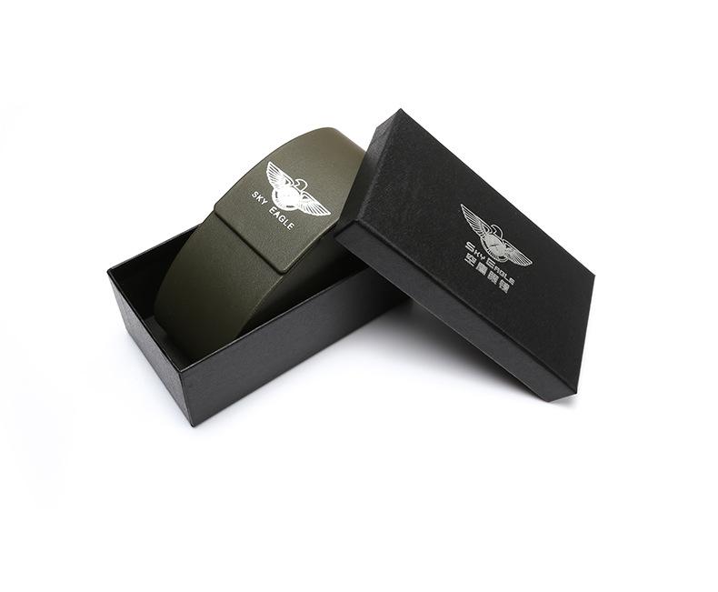 空鹰新款黑色太阳镜眼镜盒 简约方型眼镜盒 墨镜盒定制