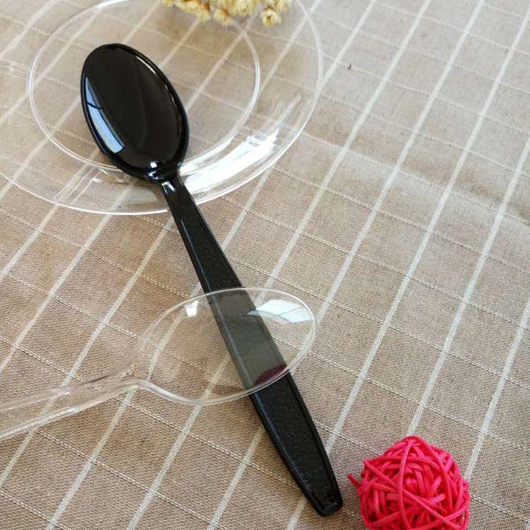 供应一次性塑料七寸西餐勺加厚勺子西餐 快餐 勺