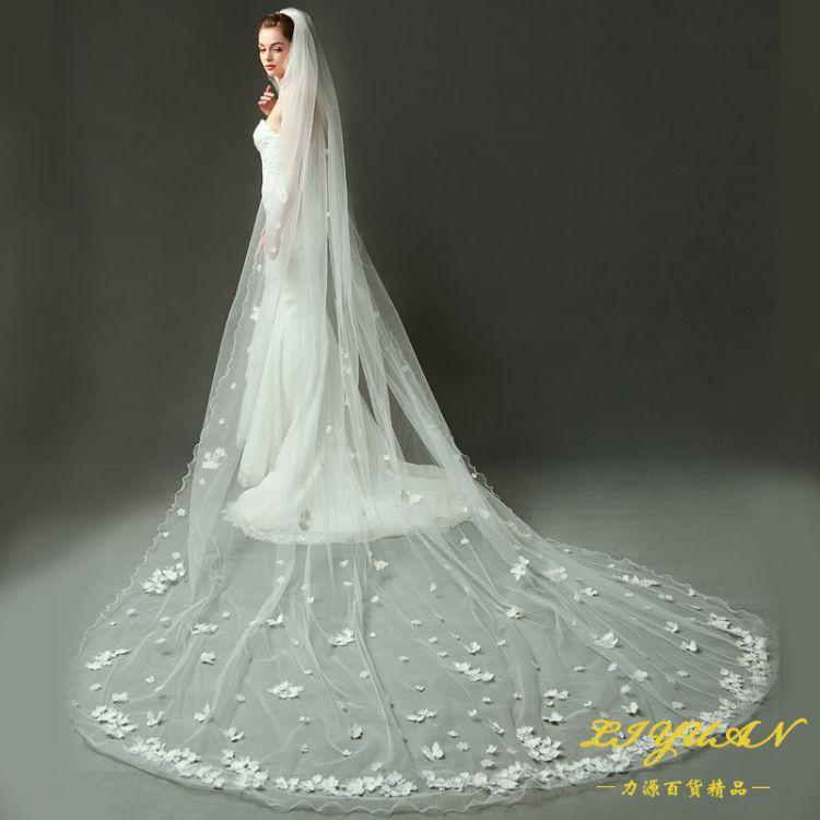 V1245W3-1I 结婚新娘头纱3米*4米 面纱婚礼头纱