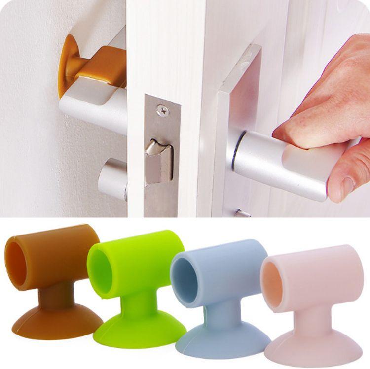 门把手门锁消音防护垫吸盘式门后墙面防撞垫门后静音防碰垫批发
