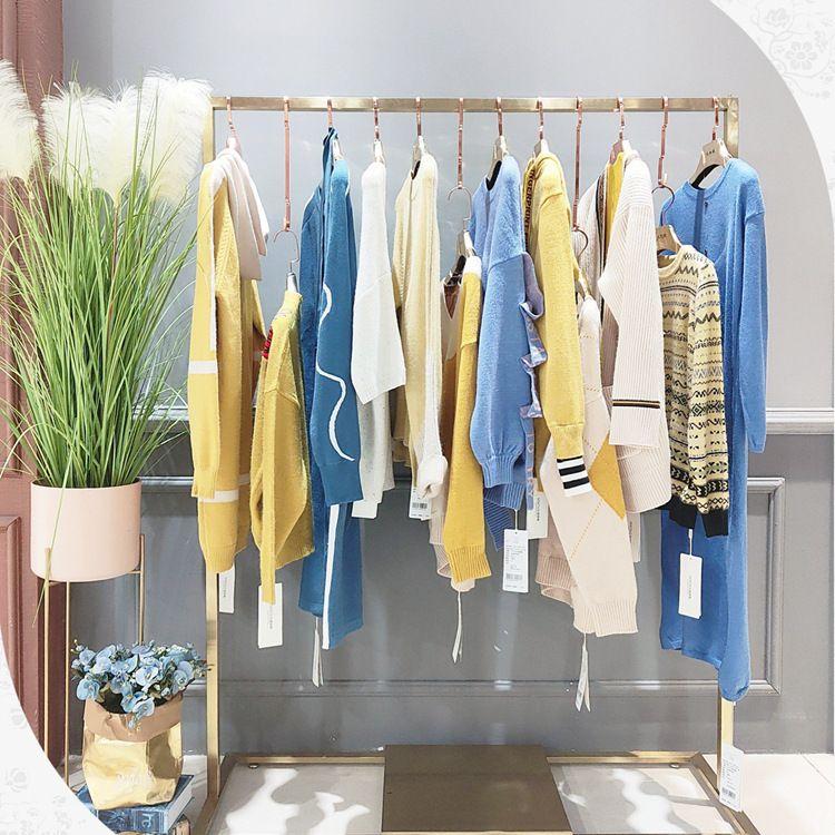 爆款热卖女装品牌森塔斯毛衣折扣尾货批发市场