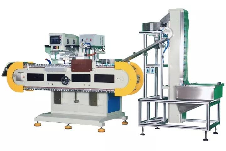 全自动移印机 饮料酸奶瓶盖药瓶盖移印机厂家