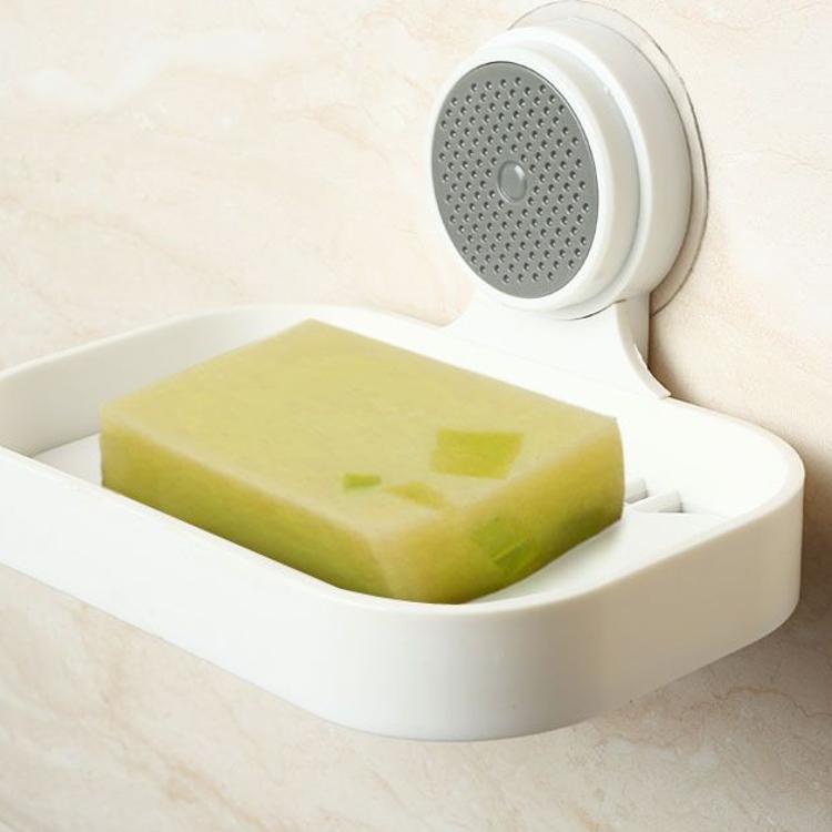 文利直供大号沥水塑料吸盘肥皂盒 卫生间厨房无痕免打孔免钉皂托