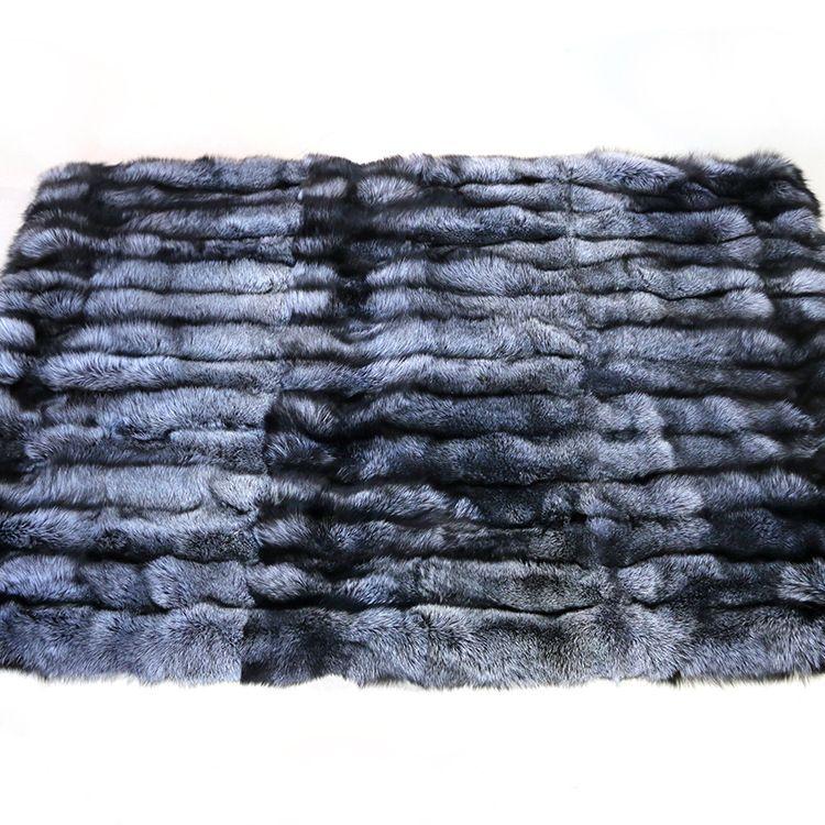 外贸爆款真狐狸毛毯子玄狐整皮褥子厂家直销支持定制一件起批