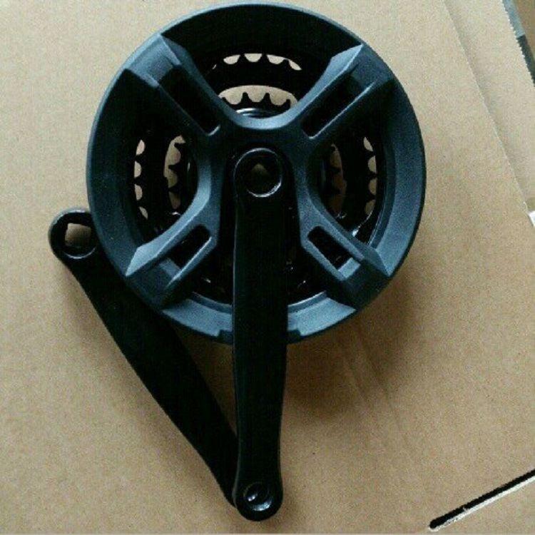 自行车牙盘变速齿盘链轮山地车曲柄轮盘方孔3片21 4速