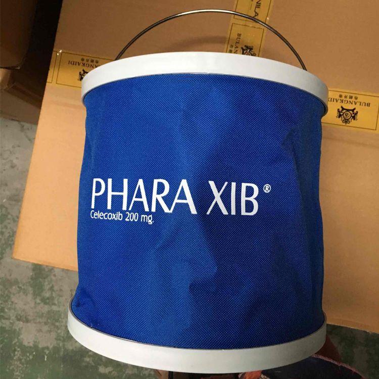 加厚多功能户外折叠水桶洗车桶91113L牛津布折叠水桶24.5cm直径