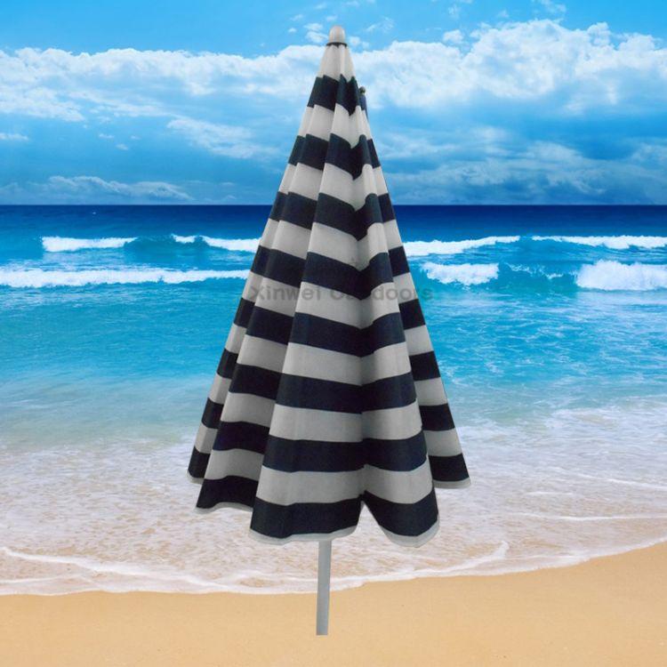 户外沙滩伞 活动促销伞太阳伞防晒伞外贸伞 2米 可转向 定制