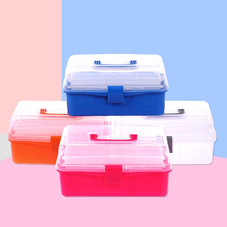 美术工具箱大小号多功能收纳箱儿童学生画箱手提文具箱收纳盒