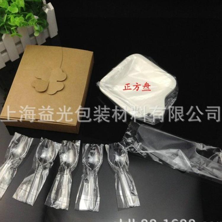 厂家直销21客同款蛋糕托套装 一次性刀叉组合 带独立包装批发