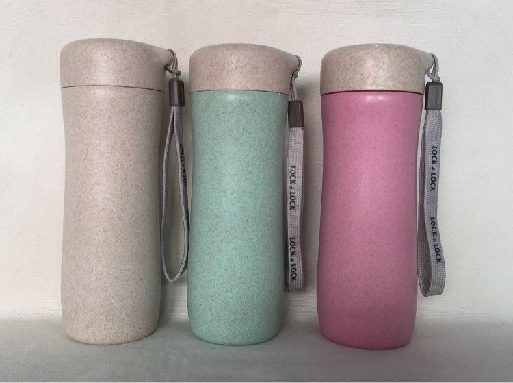 环保健康小麦秸秆麦香杯水杯便携带盖随手杯广告杯可印刷定制loGO