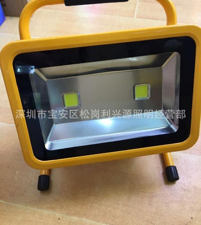 LED充电投光灯充电泛光灯100W双头便携式应急照明厂家直销 工作灯