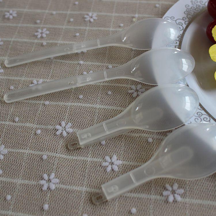 厂家供应一次性塑料勺 八宝粥勺 多功能折叠勺